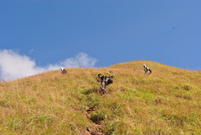 After Kallu mantapa trek trail becomes steeper