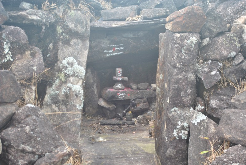 Shiva temple at the peak