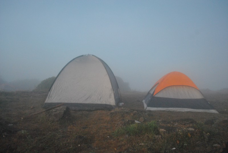 Camping site at the Kumara Parvatha Peak