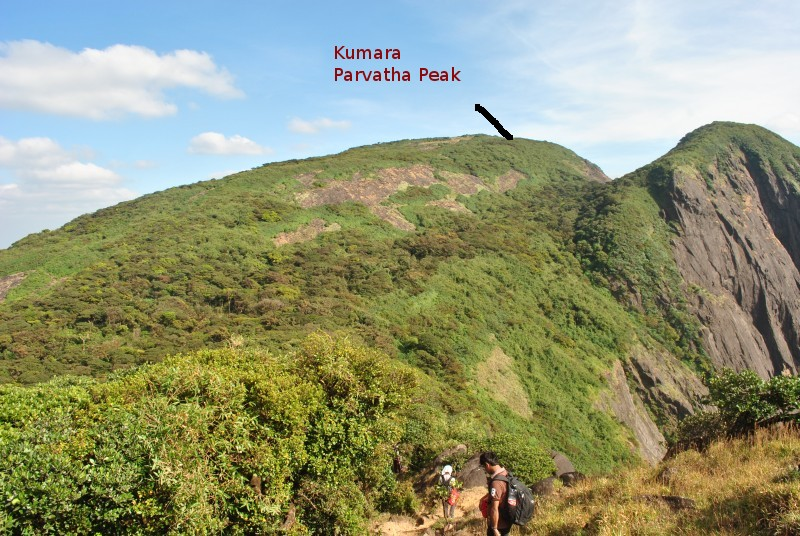 Kumara Parvatha peak view from Shesha Parvatha