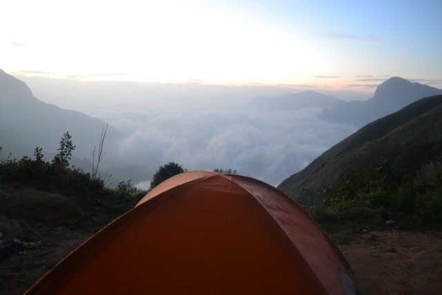 Camping at top station Munnar
